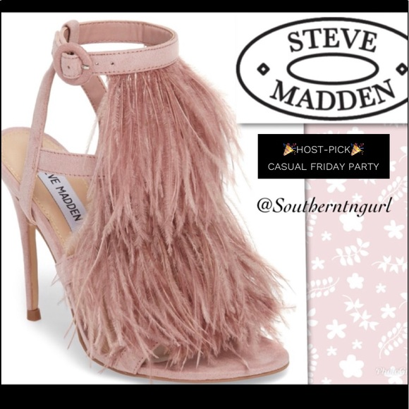 """cf88e3c124aed NWT💜STEVE MADDEN💜""""FeFe"""" Feather Sandals Heels"""